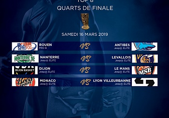 Coupe de France : face à l'ASVEL en quart !
