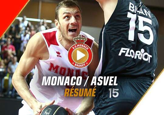 Jeep Elite — Monaco 63 - 66 ASVEL — Highlights
